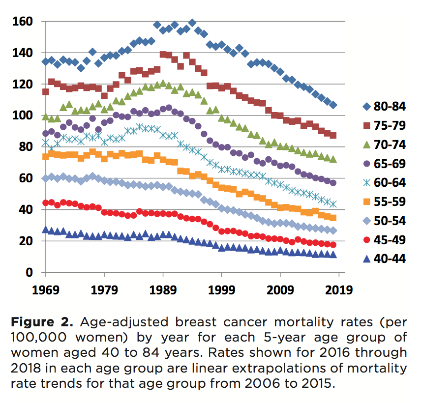 Image result for breast cancer death rate 2019